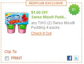 Hot New 1 2 Swiss Miss Pudding Printable Coupon Couponing For 4