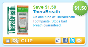 picture relating to Therabreath Coupons Printable identify $3.50 TheraBreath Printable Coupon And Even more!