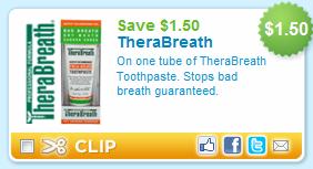 image regarding Therabreath Coupons Printable known as $3.50 TheraBreath Printable Coupon And A lot more!