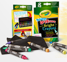 two crayola dry erase crayons and board printable coupons