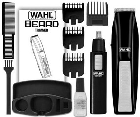 wahl cordless beard trimmer with bonus ear nose and brow trimmer only. Black Bedroom Furniture Sets. Home Design Ideas