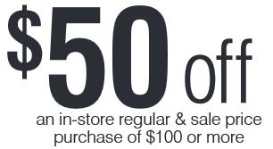 50 off 100 carson s purchase coupon bon ton stores. Black Bedroom Furniture Sets. Home Design Ideas