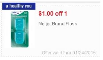 Meijer Brand Floss Coupons