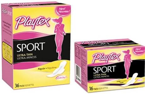 Playtex pads coupons