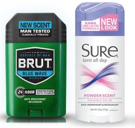Brut and Sure Deodorant
