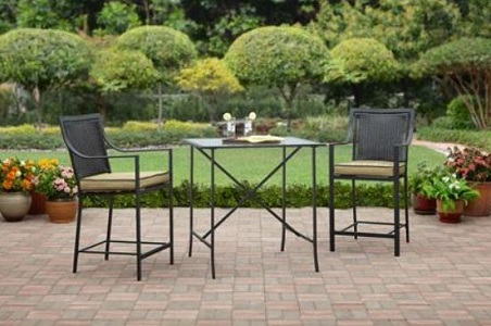 Rite Aid Home Design 3 Piece Bistro Set Braddock Heights 3 Piece High Outdoor Bistro Set With Two