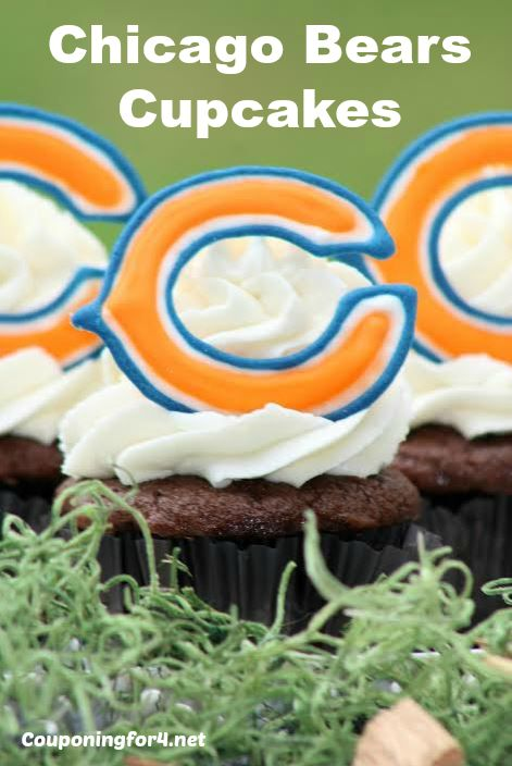 Chicago Bears Cupcakes Recipe