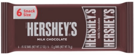 Hershey's Fun Size 6-Pack Chocolate Only $.50 At Family Dollar!