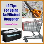 10 Tips For Being An Efficient Couponer