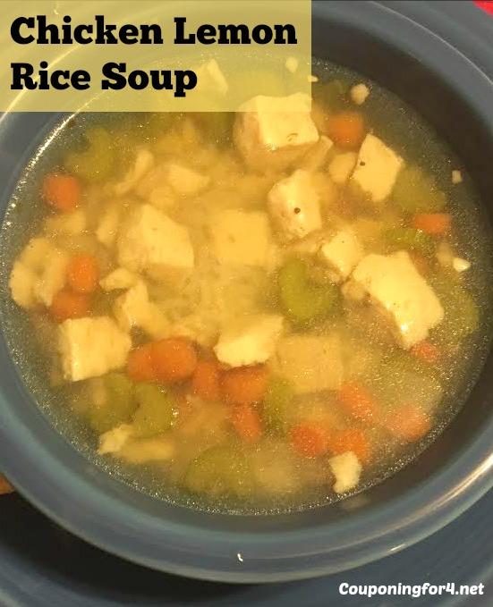 Chicken Lemon Rice Soup Recipe