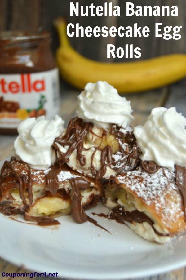 Nutella Banana Cheesecake Egg Rolls Recipe