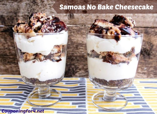 Samoas No Bake Cheesecake Recipe