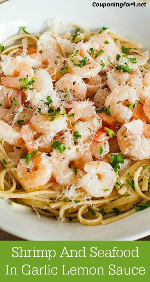 Shrimp And Seafood In Garlic Lemon Sauce Recipe