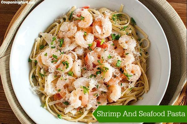 Shrimp And Seafood Pasta In Garlic Lemon Sauce Recipe