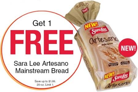 Sara Lee Artesano Bread Coupon