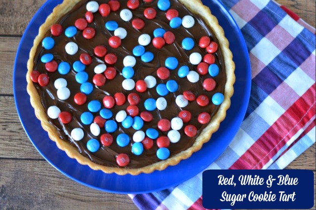 Red, White & Blue Sugar Cookie Tart Recipe
