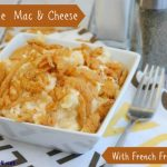 Homemade Rotini Mac & Cheese With French Fried Onions