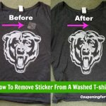 How To Remove Sticker Residue From A Washed T-shirt