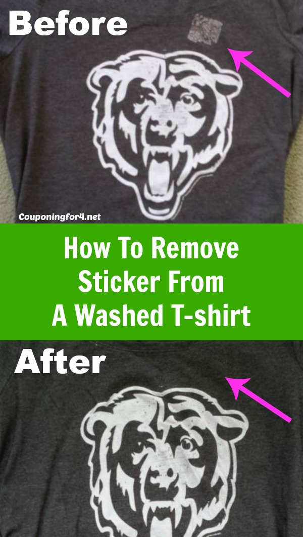 How To Remove Sticker Residue From A Washed T shirt