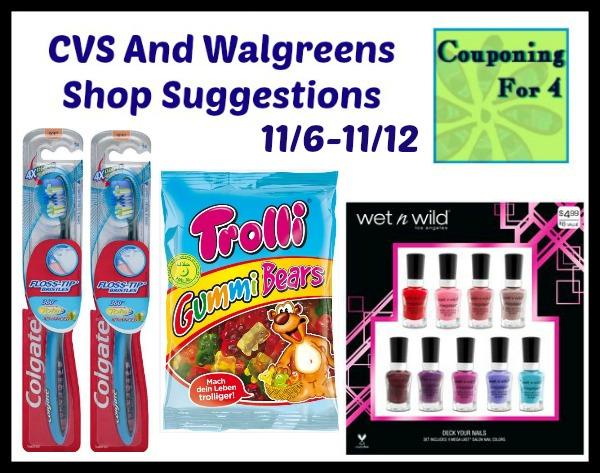 CVS And Walgreens Shop Suggestions