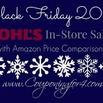 HUGE Kohl's Black Friday List With Amazon Price Comparisons!