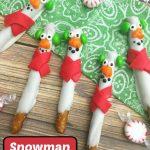 Snowman Pretzel Treats